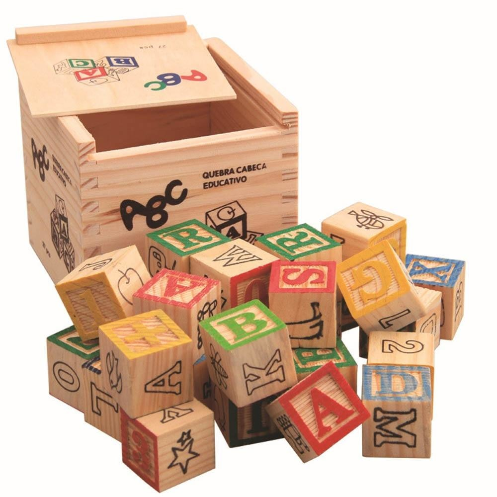z.Learning Alphabet Blocks 27Pcs/Set
