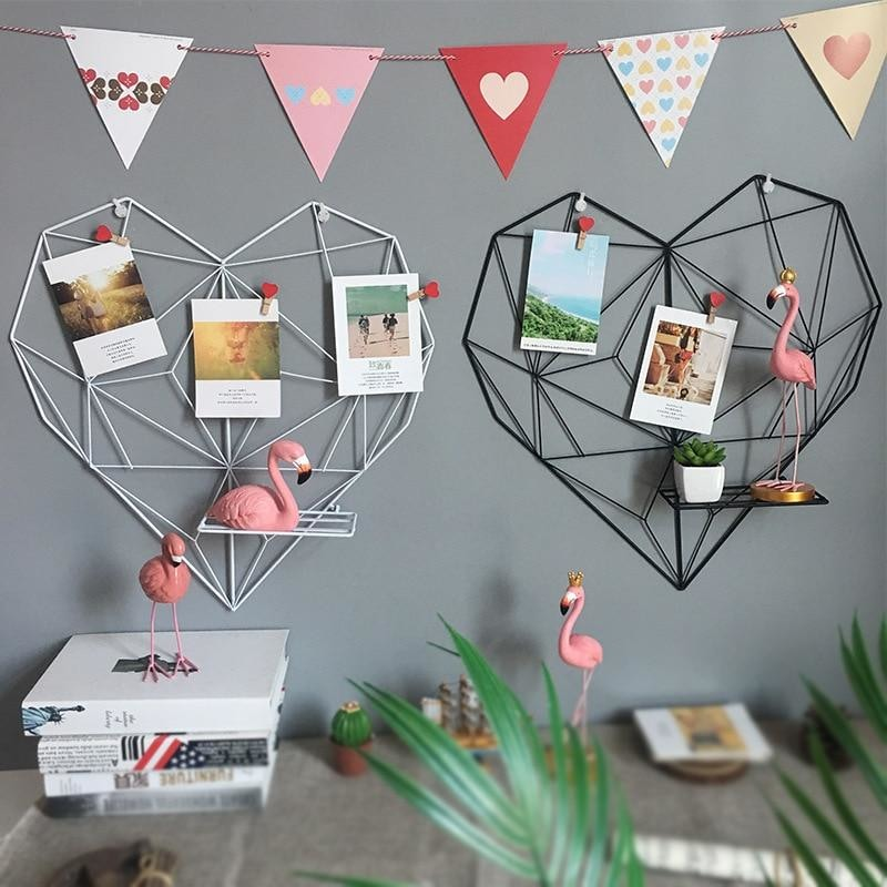 z. Metal Heart Hanging Decoration