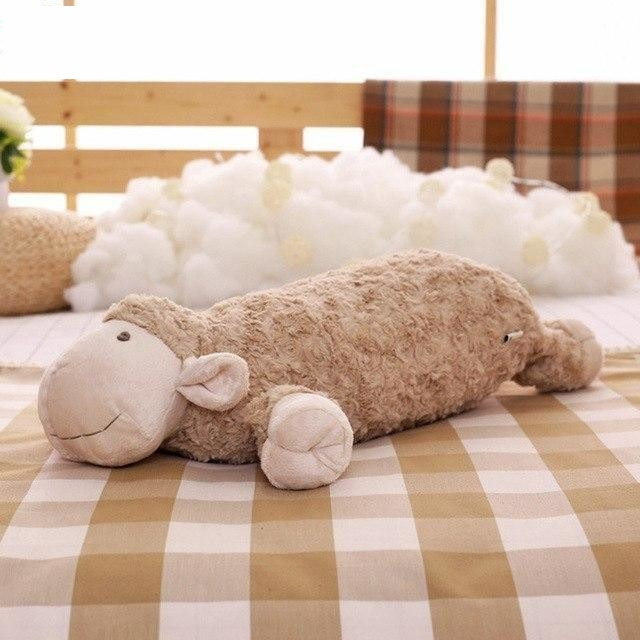 z. Plush Lamb Pillow - E