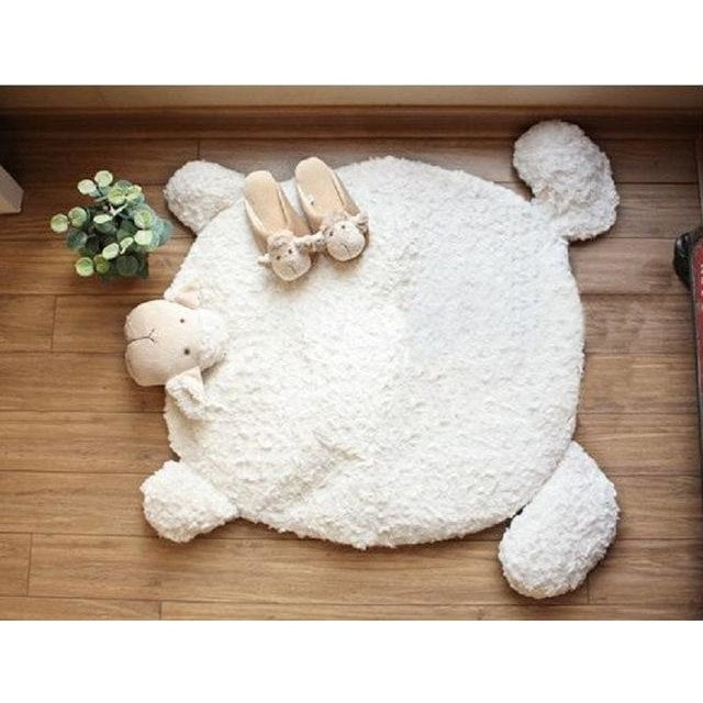 z. Sheep Baby Rug - White