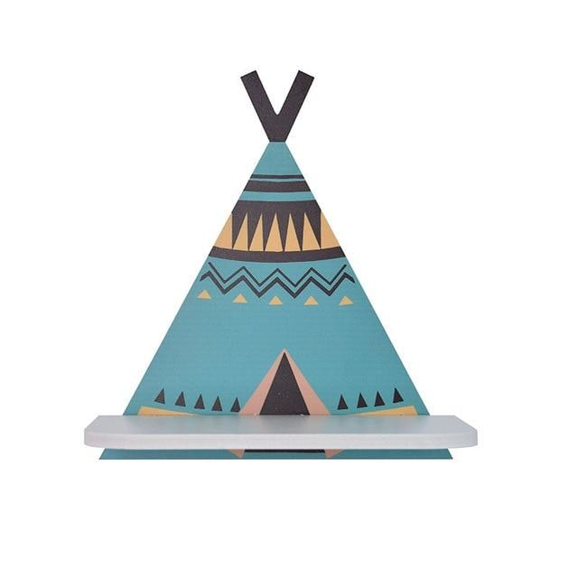 z. Teepee Wall Shelf - Blue