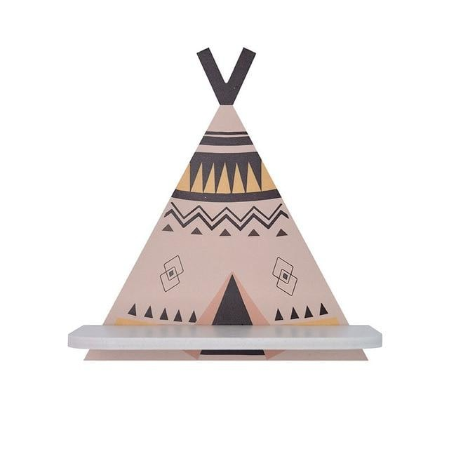 z. Teepee Wall Shelf - Brown