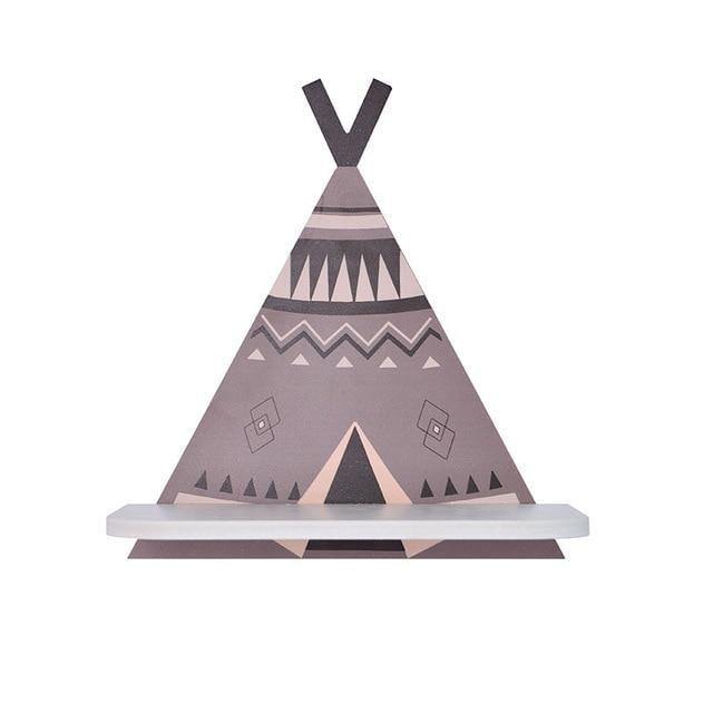 z. Teepee Wall Shelf - Grey