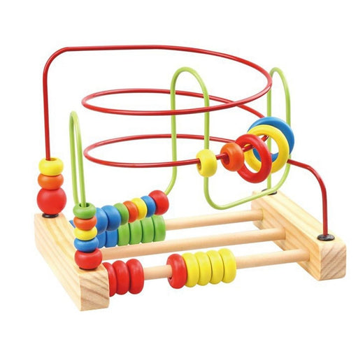 z. Wooden Counting Circles Bead Abacus