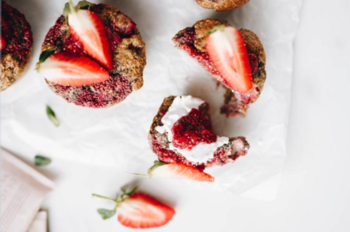 Strawberry & Vanilla Muffins