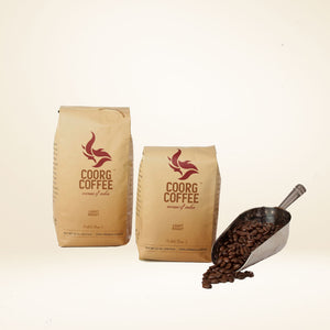 Light roast coffee beans, comes in 12oz and 16oz pack size.