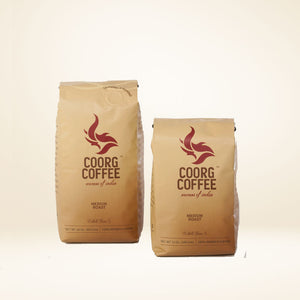 Medium roast coffee beans, comes in 12oz and 16oz pack size.