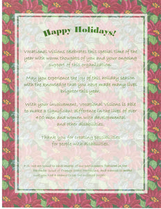 Blubandoo Vocational Visions Holiday Thank You