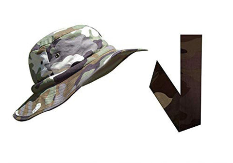Water Activated Evaporative Cooling | Camo Safari Hatbandoo | 2 Pc | With Matching Neckbandoo Free - Blubandoo