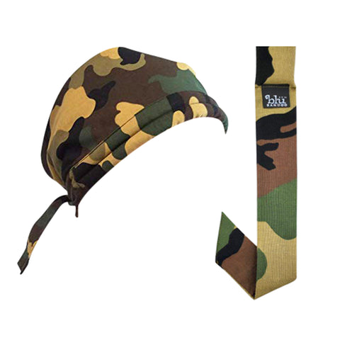 Cooling Army Camouflage Bandoorag With Matching Neckbandoo | Water Activated Cooling | 2 Pc. Value Set | Unisex