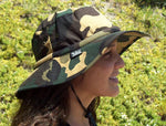 Water Activated Evaporative Cooling | Camouflage Safari Hatbandoo | Unisex | With Crystals - Blubandoo