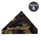 Cooling Army Camouflage Bandoorag  | Skull Cap | Doo Rag | Water Activated with Cooling Crystals | Unisex | 6 pc. Value Set