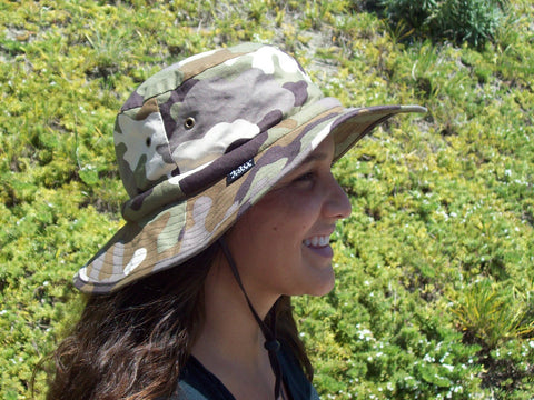 Cooling Safari Hatbandoo with Water Activated Cooling Crystals | Unisex | UPF 50+Sun Protection | Army Camouflage | Hand Washable