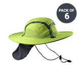 Lime/Yellow Sun Safety Hatbandoo S/M | ANSI Hi-Vis | Contains Water Activated Cooling Crystal | 6 Pc. Value Set