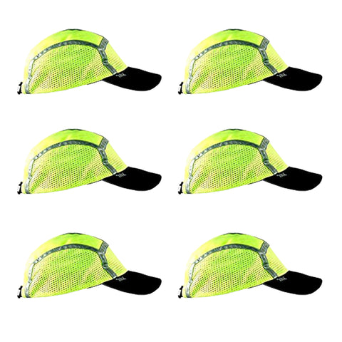 Lime/Yellow Sport Safety Capbandoo | ANSI Hi-Vis | Contains Water Activated Cooling Crystal | 6 Pc. Value Set