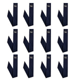 Neckbandoo Cool Tie | Unisex | Water Activated Cooling Bandana Scarf  | 12 Pc. Solid Navy Value Set