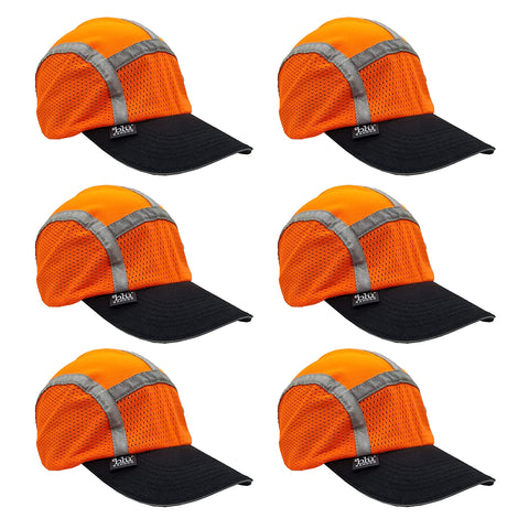 Red/Orange Sport Safety Capbandoo | ANSI Hi-Vis | Contains Water Activated Cooling Crystal | 6 Pc. Value Set