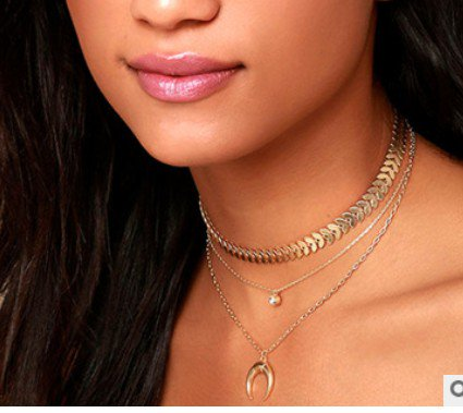 Women Metal Pearl Necklaces