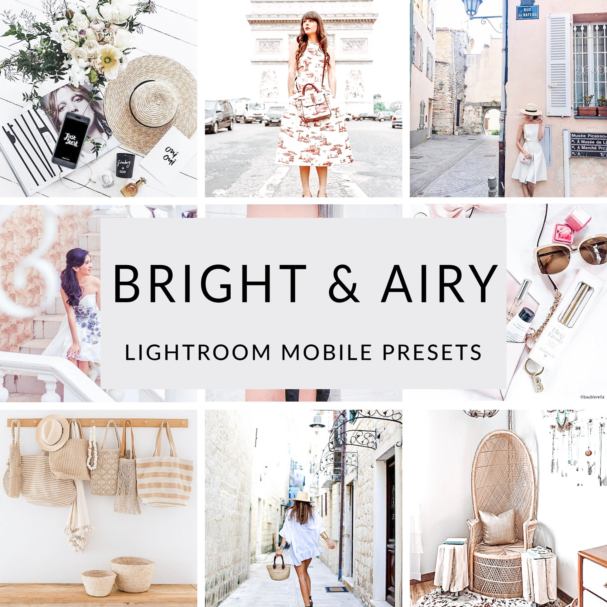 Bright & Airy Lightroom Mobile Presets