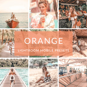Orange Lightroom Mobile Presets