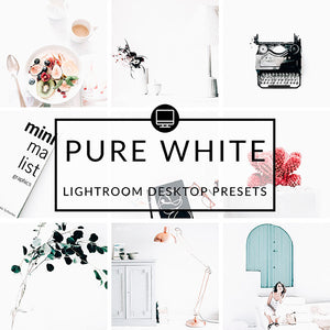 Pure White Lightroom Desktop Presets