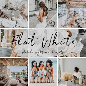 White Collection Lightroom Mobile Presets