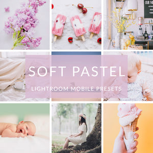 Soft Pastel Lightroom Mobile Presets