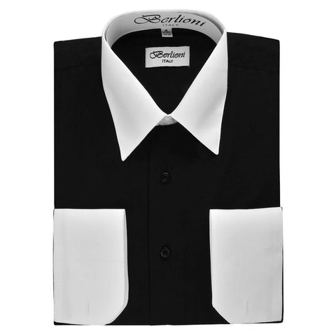 Two-Tone Dress Shirt | N°525 | Black