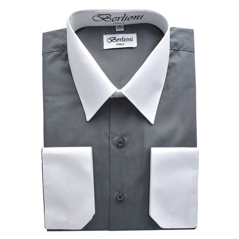 Two-Tone Dress Shirt | N°522 |Charcoal