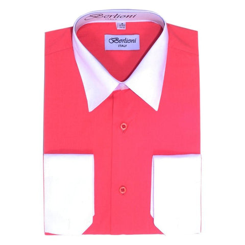 Two-Tone Dress Shirt | N°531 | Coral