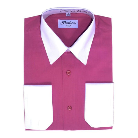 Two-Tone Dress Shirt | N°517 | Fuchsia