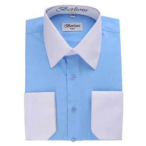 Two-Tone Dress Shirt | N°504 | Light Blue