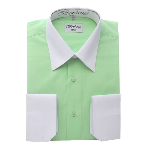 Two-Tone Dress Shirt | N°526 | Lime