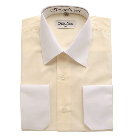 Two-Tone Dress Shirt | N°502 | Off White