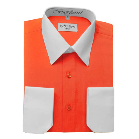 Two-Tone Dress Shirt | N°506 | Orange