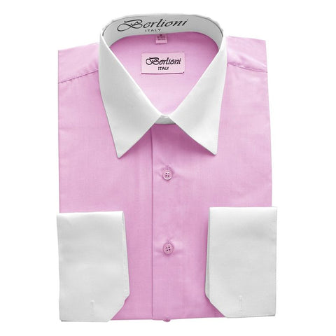 Two-Tone Dress Shirt | N°503 | Pink