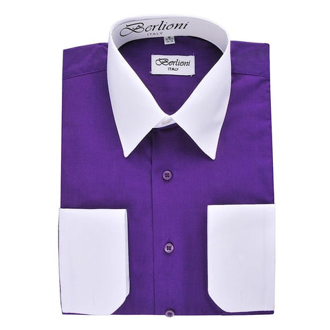 Two-Tone Dress Shirt | N°523 |Purple