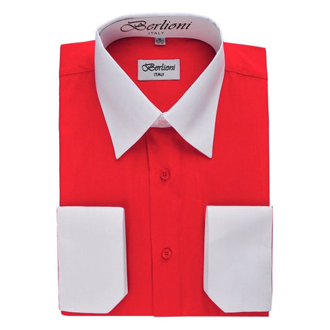 Two-Tone Dress Shirt | N°508 | Red
