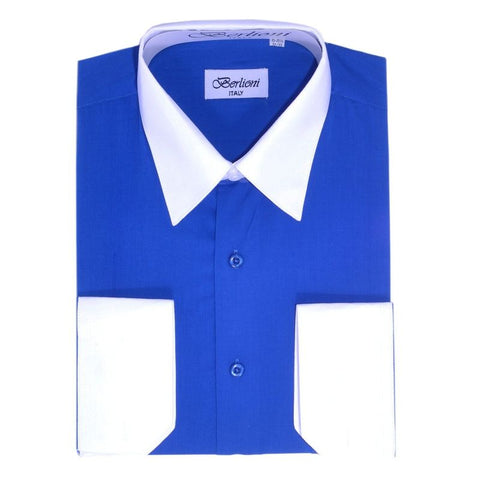 Two-Tone Dress Shirt | N°533 | Royal Blue
