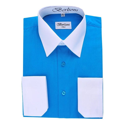 Two-Tone Dress Shirt | N°507 | Turquiose