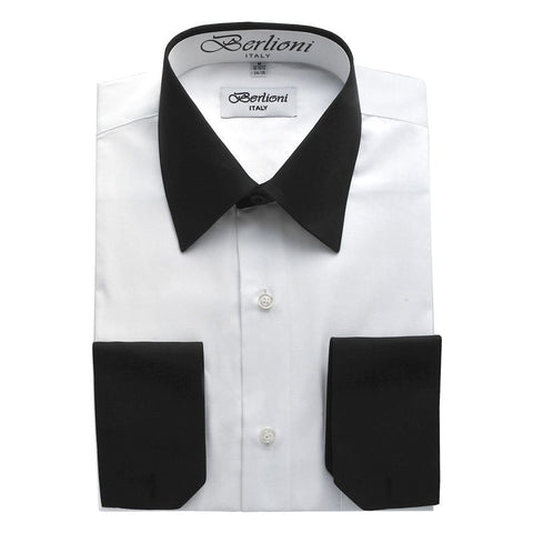 Two-Tone Dress Shirt | N°501 | White Black