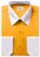 Two-Tone Dress Shirt | N°528 | Gold