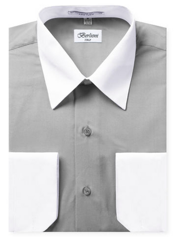 Two-Tone Dress Shirt | N°520 |Light Grey