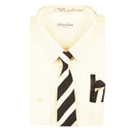 Boy's Dress Shirt/Necktie/Hanky | N°702 | Off White