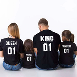 T-Shirt King Queen Prince Princess