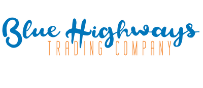 Blue Highways logo in turquoise and orange
