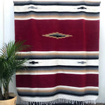 Mesa Blanket – Burgundy Red