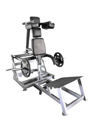 Muscle D Fitness Power ISO-Lateral Leverage V-Squat Machine - Barbell Flex