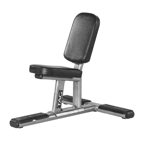 TAG Fitness 95-Degree Angle Low Seat Design Utility Bench - Barbell Flex