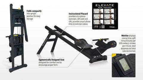 Elevate foldable rower - Barbell Flex
